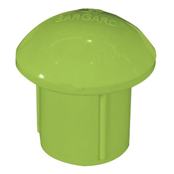 Cortina A-10 Bargard Protector Cap, 2 1/2 in x 3 in, Lime (100 EA/EA)
