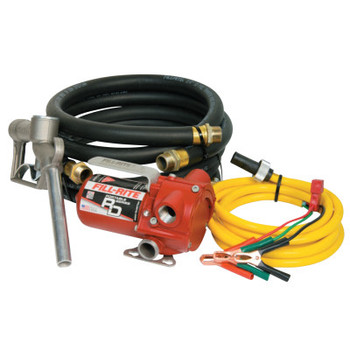 Fill-Rite RD Series Portable Fuel Transfer Pump, 12 V, 3/4 in (NPT), 8 ft Discharge Hose (1 EA/BX)