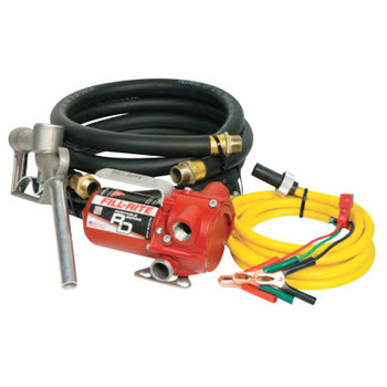Fill-Rite RD Series Portable Fuel Transfer Pump, 12 V, 3/4 in (NPT), 8 ft Discharge Hose (1 EA/EA)