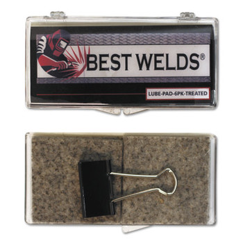 Best Welds Lube Pads, Treated, Silver (6 PK/CA)
