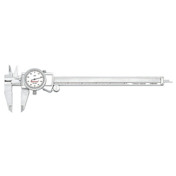 L.S. Starrett 3202 Series Dial Calipers, 0 in-8 in, Stainless Steel (1 EA/PA)