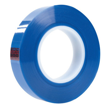 3M Polyester Tapes, 1 in x 72 yards, Transparent Blue, Polyester/Silicone (36 CA/PA)