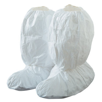 DuPont Tyvek IsoClean High Boot Covers with Gripper Soles, X-Large, White (100 BX/EA)