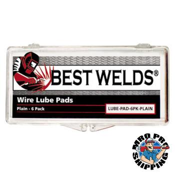 Best Welds Lube Pads, Plain, Silver (6 PK/EA)