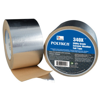 Berry Global 335FT High Temperature Flue Tape, 72 mm X 46 m, 3.8 mil, Aluminum (1 RL/EA)