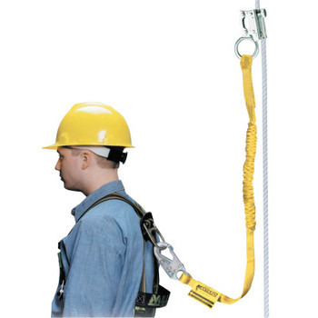 Honeywell Rope Grabs, 4 ft, 310 lb, Yellow (1 EA/KT)