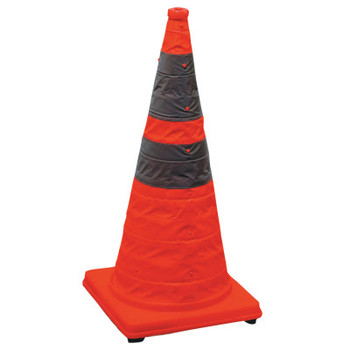 Cortina Pack and Pop Collapsible Safety Cone, 12 x 12 x 28, Orange, Nylon (1 PK/EA)