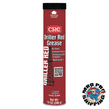 CRC Driller Red Grease, 14 oz, Cartridge (10 CA/EA)