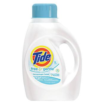 Procter & Gamble Tide Free & Gentle Laundry Detergent, 50 oz Bottle, 32 Loads (1 CA/EA)