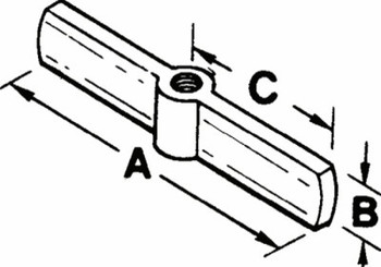 Stanley Products 3/4-12 Acme 2-Way Threaded Crossarm (1 EA/CA)