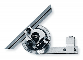Mitutoyo Series 187 Universal Bevel Protractors, 12 in Blade, Height Gage Compatible (1 EA/BOX)
