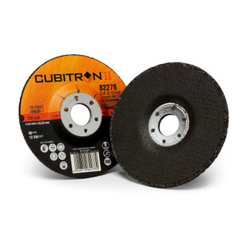 3M Cubitron II Cut and Grind Wheels, 5 in, 7/8 in Arbor, 36+, 12,250 rpm (10 BX/BOX)