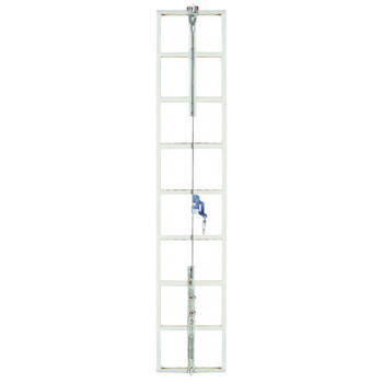 MSA Sure Climb Ladder Cable System, Galvanized Steel, 5/16 in x 30 ft (1 EA/BOX)