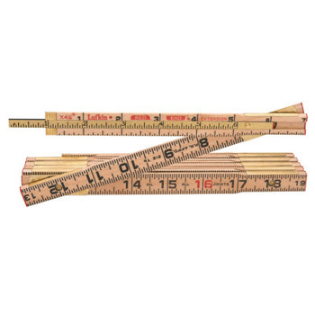 Apex Tool Group Red End Extension Rulers, 8 ft, Wood, 1 Scale (1 EA/BOX)