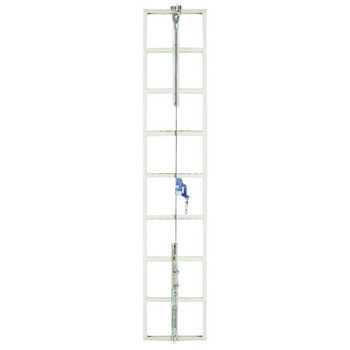 MSA Sure Climb Ladder Cable System, Galvanized Steel, 5/16 in x 40 ft (1 EA/BX)