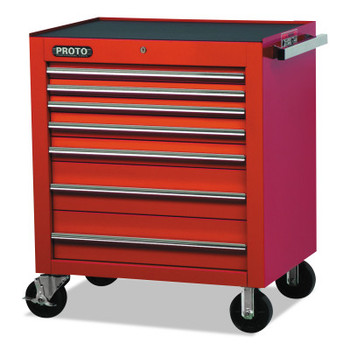 Stanley Products 450HS Roller Cabinets, 30 in x 21 1/4 in x 39 1/4 in, 7 Drawers, Red (1 EA/BOX)