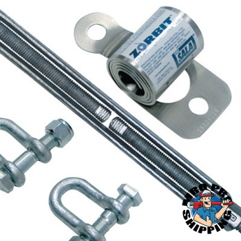 Capital Safety Zorbit Energy Absorber Kits, Up to 60 ft Lifeline, Shackles/Fasteners/Turnbuckle (1 EA/BOX)