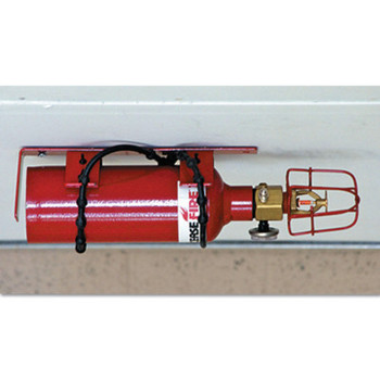 Justrite Fire Protection Systems, 4 through 16 Drum Lockers, 15.35 lb Cap. Wt. (1 EA/BOX)