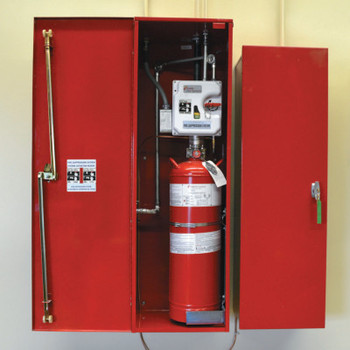 Justrite Fire Suppression Systems, For A, B, C Fires, 21 lb Cap. Wt. (1 EA/BOX)