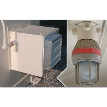 Justrite Explosion Proof Interior Light and Fan for Safety Locker (1 EA/BOX)