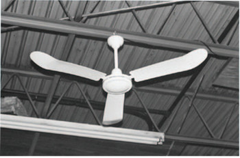 TPI Corp. Industrial Ceiling Fans, Direct Drive Fixed, 56 in, White (1 EA/BOX)