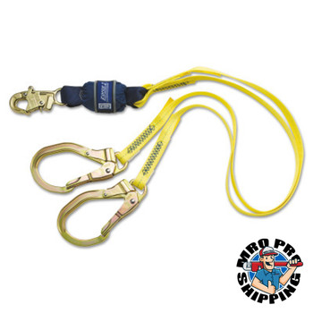 Capital Safety Force2 100 Tie-Off Shock Absorbing Lanyards, 6 ft, Snap Hook, 310/420 lb (1 EA/BOX)