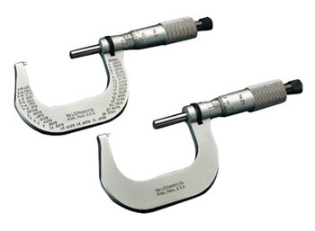 L.S. Starrett 2 Series Outside Micrometers, 1 in-2 in, Friction (1 EA/CS)