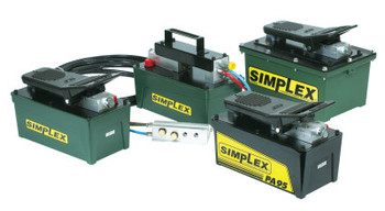 Simplex Air Powered Hydraulic Pumps, 90 cu in Useable Oil Cap. Max, 60CFM at 10,000psi (1 EA/EA)