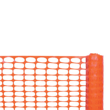 Cortina Safety Fences, 4 ft x 100 ft, Polyethylene, Orange (1 EA/EA)