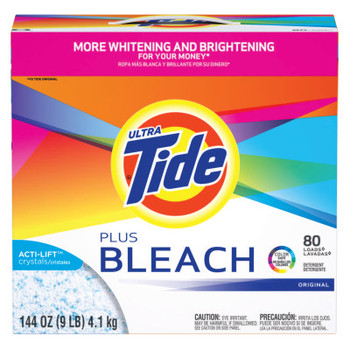 Procter & Gamble Tide Laundry Detergents with Bleach, 144 oz Box (1 CA/EA)