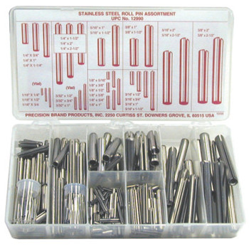 Precision Brand Roll Pin Assortments, Stainless Steel (1 AS/EA)