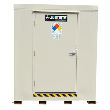 Justrite 2-Hour Fire-Rated Outdoor Safety Locker, Explosion Relief, (12) 55-gallon drums (1 EA/CTN)