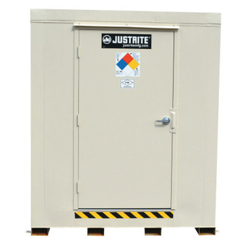 Justrite 2-Hour Fire-Rated Outdoor Safety Locker, Standard, (16) 55-gallon drums (1 EA/CTN)