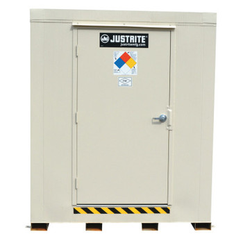 Justrite 2-Hour Fire-Rated Outdoor Safety Locker, Explosion Relief, (16) 55-gallon drums (1 EA/CTN)