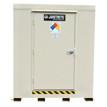 Justrite 4-Hour Fire-Rated Outdoor Safety Locker, Standard, (2) 55-gallon drums (1 EA/CTN)