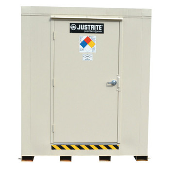 Justrite 4-Hour Fire-Rated Outdoor Safety Locker, Standard, (4) 55-gallon drums (1 EA/CTN)