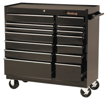 Stanley Products 14 Drawer Roller Cabinets, 41 in x 18 in x 41 1/2 in, 14 Drawers, Black (1 EA/EA)