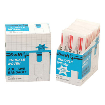 Honeywell Adhesive Bandages, Knuckle, 3 1/4 in x 3 15/16 in, Fabric (1 BX/EA)
