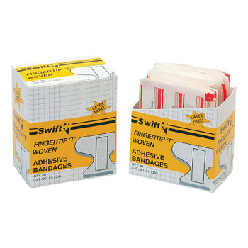 Honeywell Adhesive Bandages, Fingertip, T, 2 in x 4 in, Fabric (1 BX/BX)