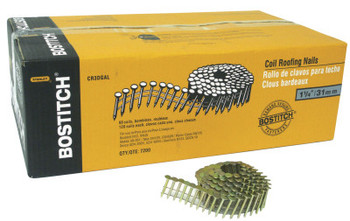 "Bostitch NAIL COIL 120 ROOF 1""GALV. 7200 PER BOX (1 BX/BX)"