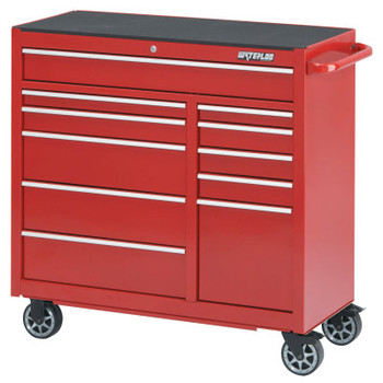 Waterloo Pro Series Cabinets, 41 1/4 in x 18 in x 42 1/4 in, 11 Drawers, Red (1 EA/EA)
