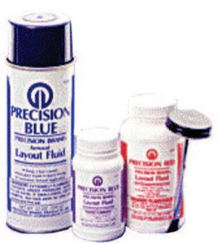 Precision Brand Precision Blue Layout Fluids, 8 oz Brush-In-Cap, Blue (12 CAN/BIT)