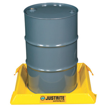 Justrite Maintenance Spill Containment Berms, Yellow, 10 gal, 2 ft x 2 ft (1 EA/EA)