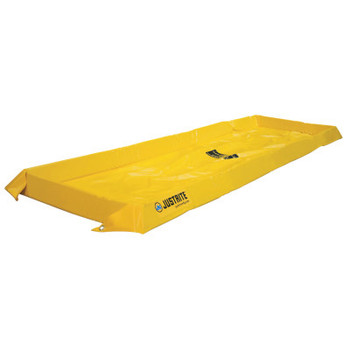 Justrite Maintenance Spill Containment Berms, Yellow, 40 gal, 8 ft x 2 ft (1 EA/EA)