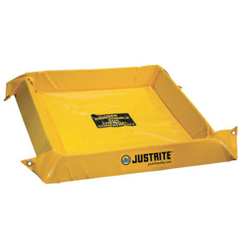 Justrite Maintenance Spill Containment Berms, Yellow, 40 gal, 4 ft x 4 ft (1 EA/EA)