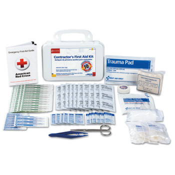 First Aid Only Contractor's First Aid Kits, 10 Person, Plastic, Portable; Wall Mounted (1 EA/EA)