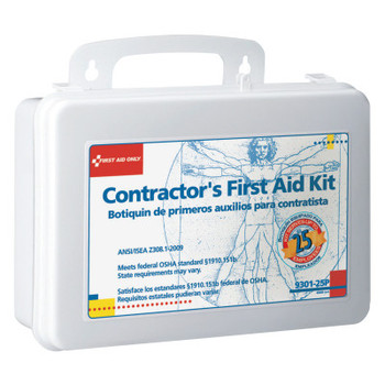 First Aid Only Contractor's First Aid Kits, 25 Person, Plastic, Portable; Wall Mounted (1 EA/EA)