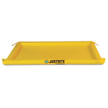 Justrite Maintenance Spill Containment Berms, Yellow, 10 gal, 4 ft x 2 ft (1 EA/EA)