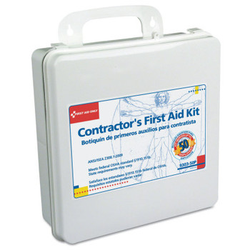 First Aid Only Contractor's First Aid Kits, 50 Person, Plastic, Portable; Wall Mounted (1 EA/EA)