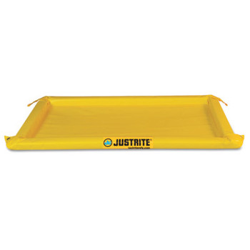 Justrite Maintenance Spill Containment Berms, Yellow, 40 gal, 8 ft x 4 ft (1 EA/EA)